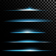Creative concept Vector set of glow light effect stars bursts with sparkles isolated on black background.