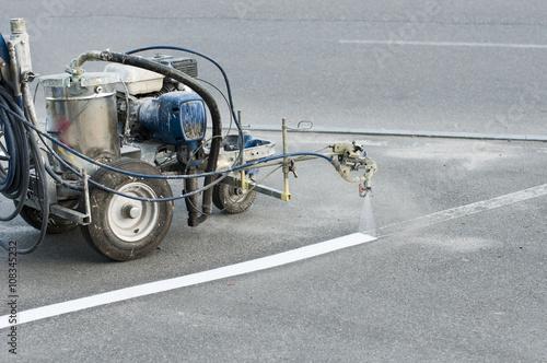 Fotografie, Obraz  manual spray marking machine for parking layout