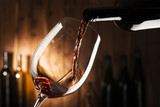 glass with red wine - 108345819