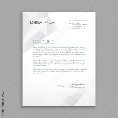 Fototapeta creative modern low poly letterhead obraz