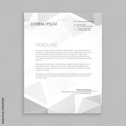 Fototapeta beautiful low poly letterhead design obraz