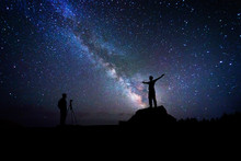Photographer Who Photographs A Friend Under The Milky Way
