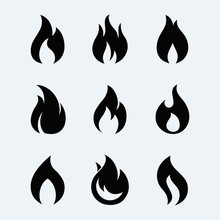 Fire Icon Vector Set