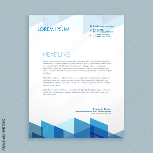 Fototapeta modern letterhead template obraz