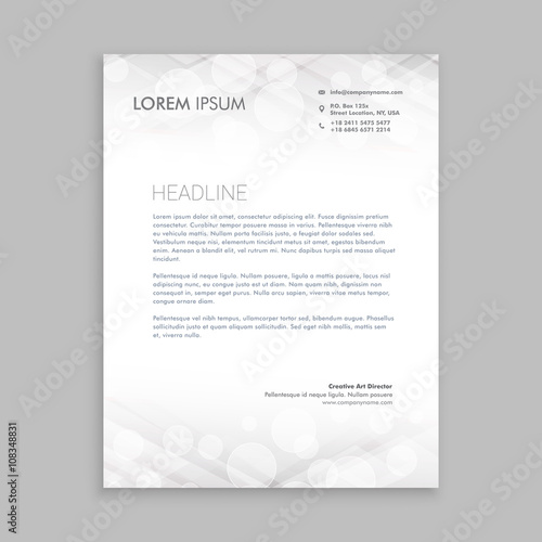 Fototapeta classic white letterhead design obraz