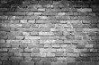 black and white retro brick wall - background texture