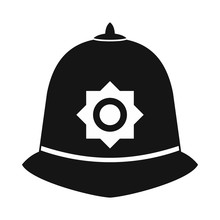 British Police Helmet Icon, Si...