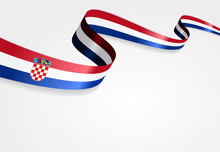 Croatian Flag Background. Vector Illustration.