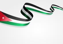 Jordan Flag Background. Vector...