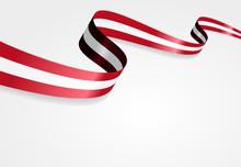 Austrian Flag Background. Vector Illustration.
