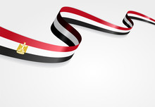 Egyptian Flag Background. Vect...
