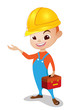 technician boy with red toolbox