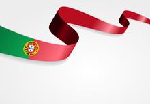 Portuguese Flag Background. Ve...