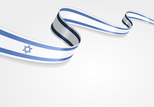 Israeli Flag Background. Vecto...