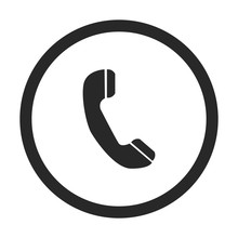 Phone  Sign Simple Icon On Background