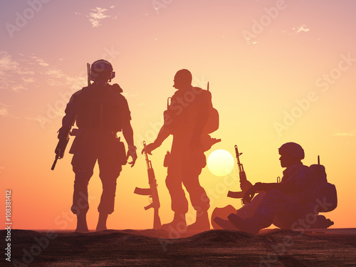 Poster Militaire Group of soldiers