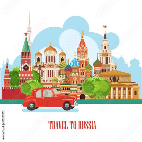 Fotografía  Russia vector poster