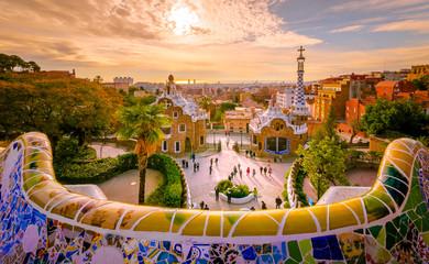 Fototapeta Guell park in Barcelona