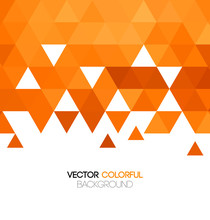 Abstract Orange Bright Mosaic Background. Vector