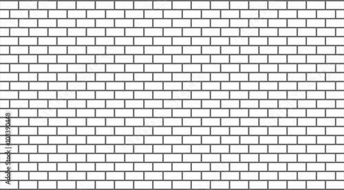 Vector white brick wall - 108390448