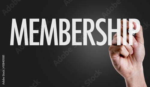 Fotografía  Hand writing the text: Membership