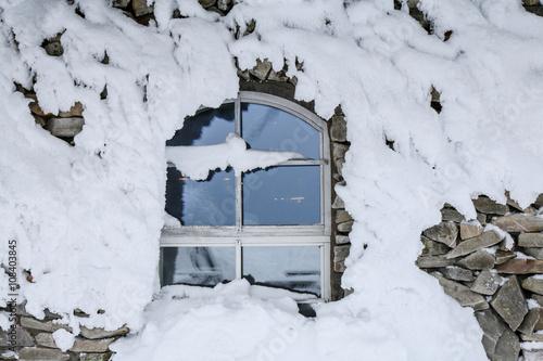 Photographie  frozen window