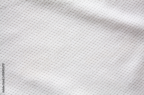 Fotobehang Stof White sports clothing fabric jersey