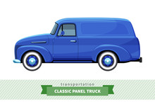 Classic Panel Truck Side View