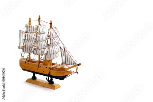 Photo Model ship on white background