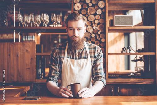Fotografie, Obraz  Confident barista.
