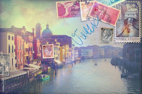 Garden Poster Imagination Vacanze in Italia,cartoline vintage di Venezia