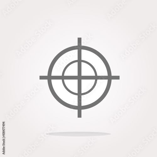 Photo  vector target icon, isolated on white background