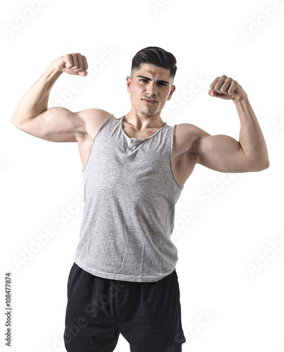 Naked Male Body. Male Model. Athletic Man With Biceps