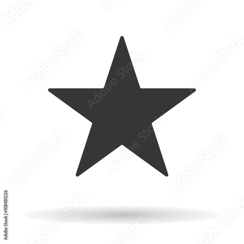 Clasic star icon isolated on a white background with a shadow, stylish vector illustration for web design Wall mural