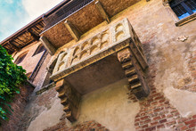 The Famous Balcony Of Juliet Capulet Home In Verona, Italy