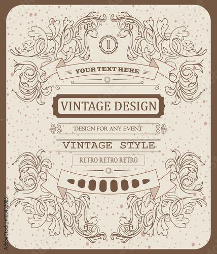 wektor-fajne-hipster-piekne-zaproszenie-vintage-typograficzne-szablon
