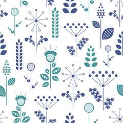 Panel Szklany Podświetlane Skandynawski nordic floral