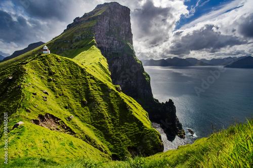 Photo  Kallur lighthouse in Kalsoy Island, Faroe Islands