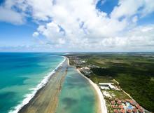 Aerial View Of Muro Alto Beach, Pernambuco, Brazil