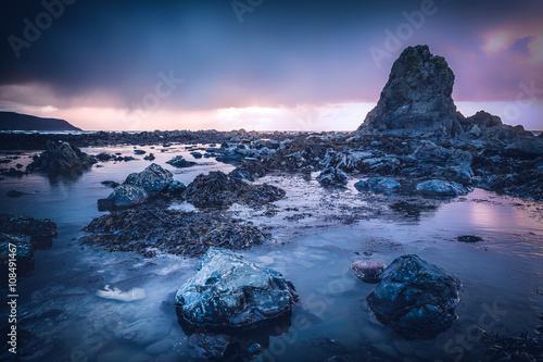 Fotografie, Obraz Widemouth bay cornwall england uk