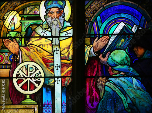 Stained Glass - Saint Methodius Poster