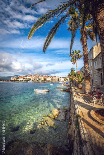 Fotografie, Obraz  View of Korcula old town