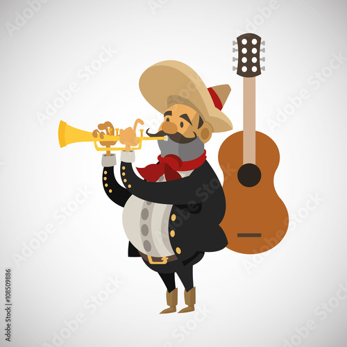фотографія  Graphic design of mexican culture