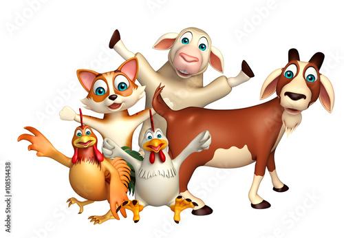 Fotobehang Beren Farm animal collection