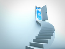 Stairs Leading To Sky