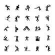 Sports Human icon set