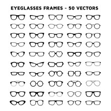Set Of Glasses. Sunglasses And...