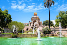 Fountain Of Parc De La Ciutadella In Barcelona, Spain