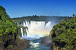 Iguazu Falls, on the border of Brazil, Argentina and Paraguay.