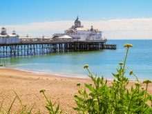 Eastbourne's Pier And Beach At...